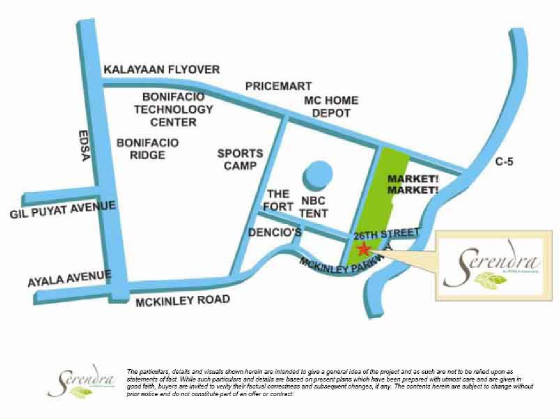Serendra location map