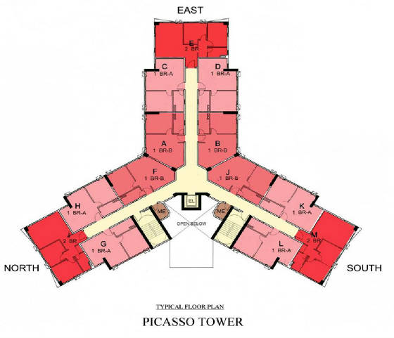 Picasso Floor Plan 2F to 5F